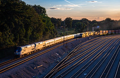 The Crescent (Kyle Yunker) Tags: amtrak amtk ge general electric locomotive p42dc passenger train the crescent 20 norfolk southern ns inman yard atlanta railroad track sunset