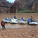 Setting off from Phantom Ranch Beach - AZRA Raft Trip - Grand Canyon