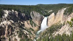 Waterfalls at the Grand Canyon of the Yellowstone! (peddhapati) Tags: bhaskar peddhapati photography nature travel scenic holiday vacation beautiful volcanic national park landscape waterfalls grand canyon yellowstone water famous wyoming usa prismatic 2019 summer hot spring geysers nikon d90 dslr