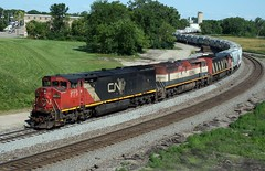 Holy Cowls - A490 Neenah - CN 2437 (soosd60) Tags: cowl train cn canadian national c408m bcol neenah wisconsin a490 sand s curve scene