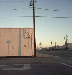 Inyo St. (ADMurr) Tags: california desert mojave evening shadow poles rolleiflex 35 e kodak ektar mf 6x6 dbb054 planar zeiss 75mm