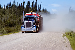 87-1166.jpg (John Poirier) Tags: northwestterritories transportation 1987 canada trucking land liardhighway colour nwt color