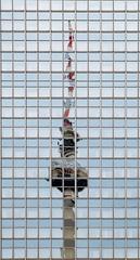Fernsehturm (Douguerreotype) Tags: berlin tower city deutschland buildings window urban architecture germany reflection glass