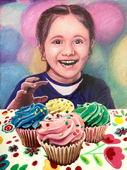 The Cupcake Thief (GayleMaurer006) Tags: cupcake frosting girl party festive