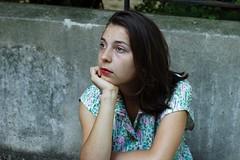 Marion. (Nicolas Fourny photographie) Tags: canon 600d 50mm model beauty portrait portraiture womanportrait girlportrait summer naturallight brunette paris street beautifulgirl beautifulwoman