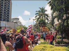 For Mauna Kea (Shirley Lam Images) Tags: maunakea aoletmt hawaiian activists notmt honoluluhawaii honolulu hawaii waikiki protectmaunakea kūkiaimauna tmtshutdown protectthesacred defendthesacred pentax645n mediumformat 120film 120 ektar100 kodakektar100 photograhy documentation