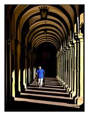 the way into darkness (Armin Fuchs) Tags: arminfuchs lavillelaplusdangereuse würzburg juliusspital arkaden barock architecture light shadows blue diagonal