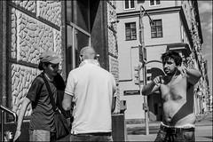 18dre0051 (dmitryzhkov) Tags: urban outdoor life human social public stranger photojournalism candid street dmitryryzhkov moscow russia streetphotography people bw blackandwhite monochrome sunshine day lights shadows summer