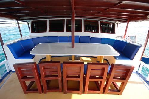 Emperor Atoll dining on deck hr
