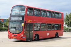 GAL WVL336 @ Hatton Cross bus station (ianjpoole) Tags: goahead london metrobus volvo b9tl wright eclipse gemini lx59ddo wvl336 working route x26 heathrow central bus station west croydon