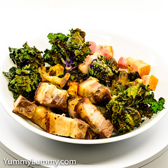 Pork belly with speck, broccoli, cauliflower, kale sprouts and Brussels sprouts (garydlum) Tags: broccoli brusselssprouts cauliflower kalesprouts pork porkbelly speck canberra australiancapitalterritory australia