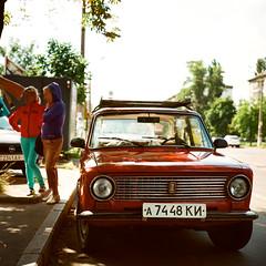 Lada/Zhiguli (dmitriy.marichev) Tags: lada zhiguli vintage car classic rollei ektar film 100 120 28 planar rolleirolleiflex28gx rolleiflex gx kiev ukraine dmitriymarichev analog color kodakektar100