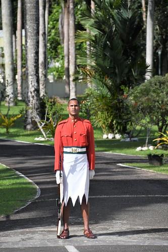 Guarding The Fijian Goverment House