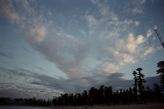 Manly Dusk [Nikon F5 Film] (Aviator195) Tags: nikon nikonfilm nikonf5 kodak kodakfilm kodakportra kodakportra400 portrafilm portra400 portra pushprocessed 35mm 35mmfilm film filmisnotdead filmphotography filmscan filmphoto filmphotos filmlives analog analogue grain australia 2019 sky contrast clouds manly beach beachscape