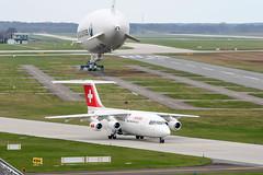 HB-IXF (PlanePixNase) Tags: hannover aircraft airport planespotting haj eddv langenhagen swiss british aerospace avro rj85 zeppelin