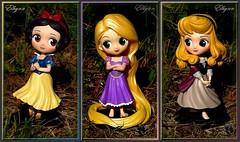 Disney Banpresto Q Posket Snow White, Rapunzel and Briar Rose figures (Elhynn Dolls) Tags: waltdisney princess princesse collection shopdisney disneystore aurora blancheneige raiponce tangled aurore