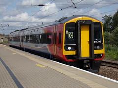 East Midlands Trains Class 158 158799 (Alex S. Transport Photography) Tags: train railway rail newarknorthgate dmu class158 sprinter eastmidlandstrains emt diesel 2t34 158799