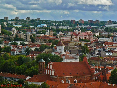 Vilnius - The Three Crosses Mountain, city panorama