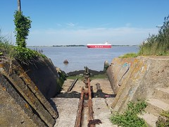 Photo of Cliffe Fort torpedo launcher
