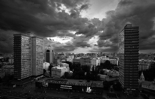 Thunderstorm is near. Moscow, Russia