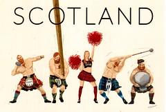 Postcrossing GB-1127820 (booboo_babies) Tags: scotland sports kilt traditional costume trackandfield greatbritain unitedkingdom postcrossing