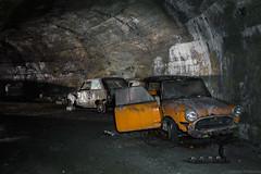 Pit stop (The Urban Tourist) Tags: urbanexploration urbex abandoned abandonedplaces abandonedcars innocenti abandonedtunnel airraidshelter abandonedairraidshelter