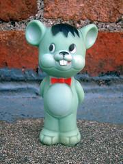 Rosebud Mouse (The Moog Image Dump) Tags: rosebud mouse rose bud vintage squeaky toy squeaker mattel kawaii cute animal