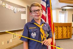 Cub Scout Arrow of Light (aaronrhawkins) Tags: webelos cubscout arrow light boy child childhood flag american ceremony joshua acheivement rank badge advancement uniform aaronhawkins