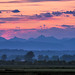 Sunrise over the North Cascasdes, Washington State