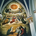 South Bend  - Indiana -  Basilica of the Sacred Heart in Notre Dame - The Grotto of Our Lady of Lourdes Mural thumbnail
