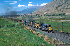 The Journey Begins (jamesbelmont) Tags: utahrailway martinturn ironton springville utah alco rsd15 rsd12 rsd4 coal train railroad railway locomotive wasatch