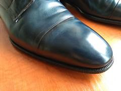 Blue captoes 2 (Adam11051983) Tags: blue captoes dress footwear formal lace leather men mens shoe shoes