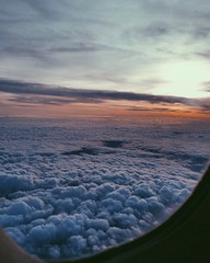 on top of the rest ✨ (egi.duro) Tags: panoramic artistic shot amazing photographed follow like flightmode beauty space high clouds sky nature colors white blue pink sunset travel flight airplane