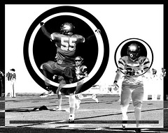 Football Remix (skye-skye) Tags: kid kids teen teens teenager teenagers child children youth young boy boys guy man dude woman women men girl chick lady invert inverted abstract artsy edit edited photoshop tutorial college georgia black white blackandwhite mono monochrome