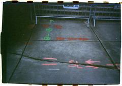 Adidas (Robert Drozda) Tags: portland oregon adidascampus construction overlookneighborhood pavement barrier paint crack film kodakgold400 35mmfilm bluemooncamera sloppyborder rollfilmweek 2019 drozda
