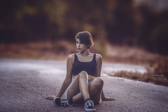 Peace... © (Chris Chronaios Photography) Tags: girl woman dance fit body street poeple portrait dynamic colors focus closeup nature outdoors road mood pose