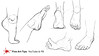 HOW TO DRAW FEET FROM ANY ANGLE EASILY