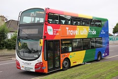 Bus Eireann VWD43 (151C7164). (Fred Dean Jnr) Tags: buseireannroute208 cork buseireann volvo b5tl wright eclipse gemini3 vwd43 151c7164 curraheenroadcork bishopstown july2019 wrap pride alloverad bus