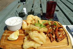 Fritto Misto (Tony Worrall) Tags: images photos photograff things uk england food foodie grub eat eaten taste tasty cook cooked iatethis foodporn foodpictures picturesoffood dish dishes menu plate plated made ingrediants nice flavour foodophile x yummy make tasted meal nutritional freshtaste foodstuff cuisine nourishment nutriments provisions ration refreshment store sustenance fare foodstuffs meals snacks bites chow cookery diet eatable fodder ilobsterit instagram forsale sell buy cost stock pub sunlit drink cider sunglasses fried tempura kingprawns deepfriedcalamari whitebait baffitos