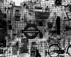 Wall of Delights (Mr Exploding) Tags: thedesignmuseum kensington kensingtonhighstreet london w8 monochrome blackandwhite designermakeruser exhibit museum crowdsourcedwall