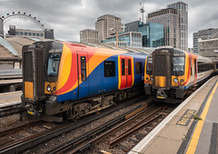 South Western Railway 450007 and 444041 at London Waterloo station on 15 July 2019 (Dave R Lee) Tags: class444 444041 class450 class4500 450007 southwesternrailway station multipleunit electricmultipleunit railway railwaylocation londonwaterloo toc transport 444 450 4500 desiro emu journey location multiple railcar southwestern train trainoperatingcompany transportation unit waterloo