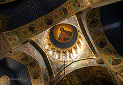... Who Art in Heaven... (pietkagab) Tags: sioni cathedral tbilisi interior ceiling dome frescoe frescoes painting decoration church orthodox georgian arch arches pietkagab photography piotrgaborek sonya7 sightseeing adventure travel trip tourism