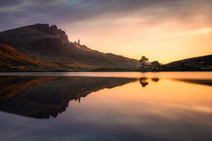 Loch Fada (philipslotte1) Tags: portree isleofskye scotland uk storr theoldmanofstorr lake loch fada landscape sunrise morning light colors lightroom tree reflections nature waterscape mountains
