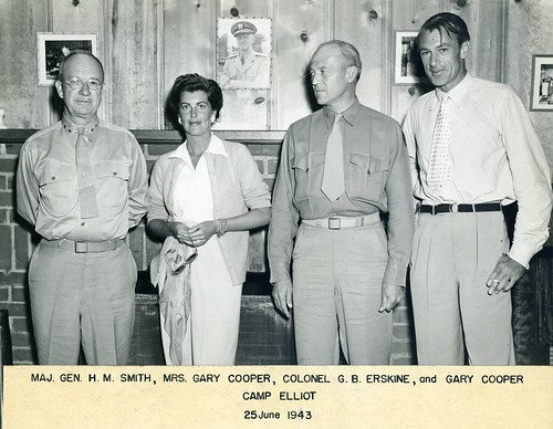 Holland Smith, Veronica Cooper, Graves Erskine, and Gary Cooper, 25 June, 1943
