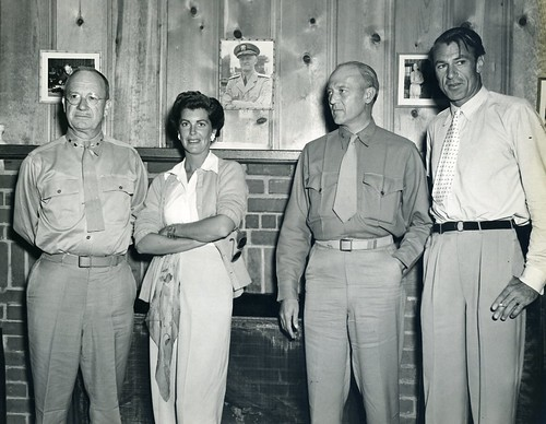 Holland Smith, Veronica Cooper, Graves Erskine, and Gary Cooper, Camp Elliot, San Diego, California, 25 June 1943