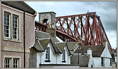 High Flyer to the Granite City (david.hayes77) Tags: fife kingdomoffife scotland northqueensferry class170 1a49 turbostar 2019 forthbridge firthofforth houses dwellings roof chimney scotrail