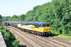 56049 and 56087 Blackburn 23-7-19. (Blackburns Railway Scene) Tags: 56049 robinoftemplecombe colasclass56s grids colas ainsworthbridge