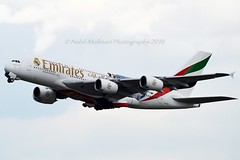"""Emirates Airline A6-EUG Airbus A380-861 cn/219 Painted in """"Real Madrid C.F."""" special colours Feb - Jul 2018 @ LOWW / VIE 22-06-2018 (Nabil Molinari Photography) Tags: emirates airline a6eug airbus a380861 cn219 painted realmadridcf special colours feb jul 2018 loww vie 22062018"""