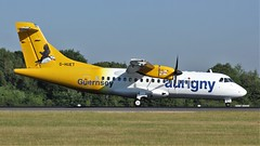 G-HUET (AnDyMHoLdEn) Tags: aurigny atr egcc airport manchester manchesterairport 05r