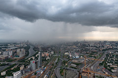 Rain (gubanov77) Tags: moscow russia city cityscape urban rain building topview viewpoint moscowcity moscowskyscrapers mibc okotower clouds sky